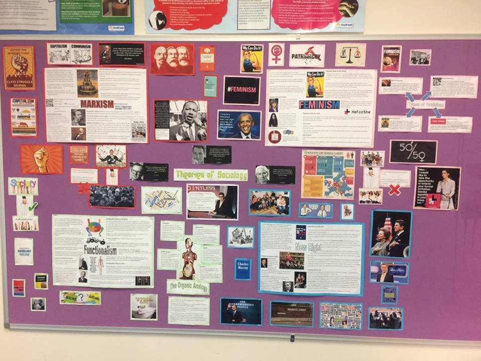 Sociology theories display! or Theory overview sheets for students