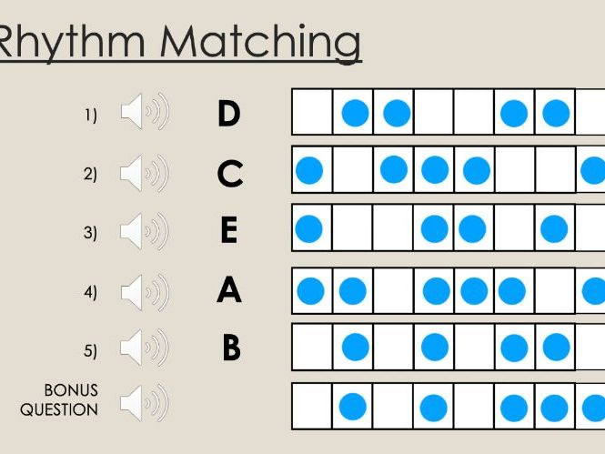 Rhythm and Pulse Activity Sheet