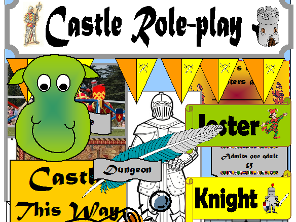 CASTLES ROLEPLAY CLASSROOM DISPLAY EYFS KS1