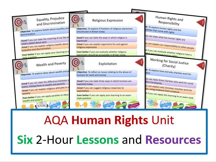 AQA Human Rights Unit - Whole Unit of Lessons and Resources