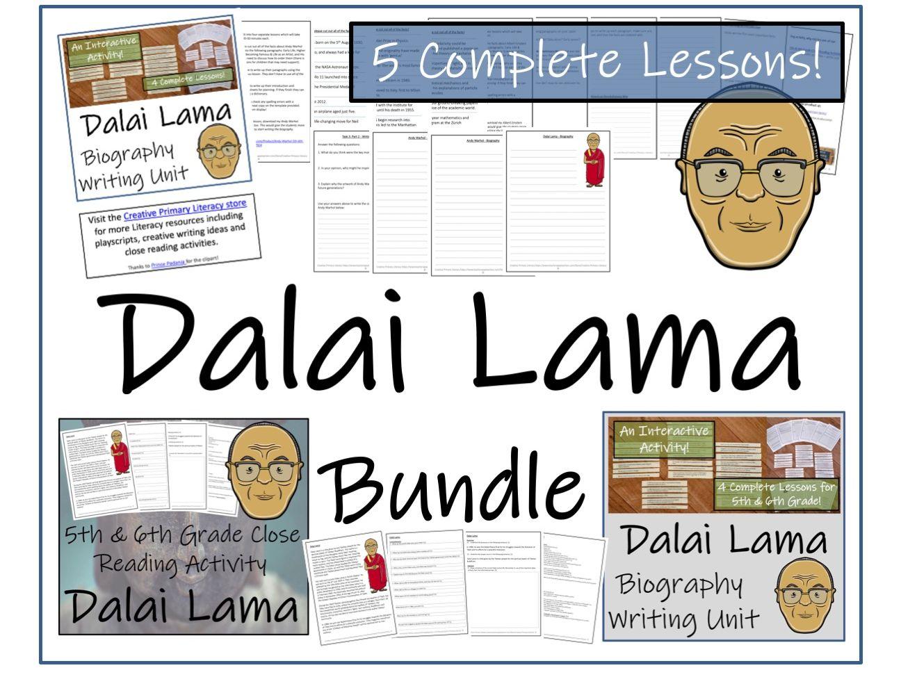 UKS2 Literacy - Bundle of Dalai Lama Activities