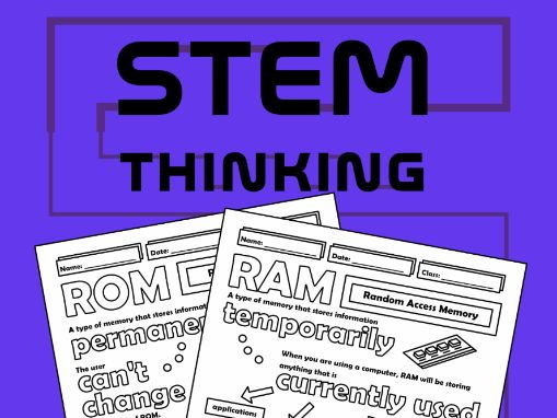 RAM and ROM Computing Science Doodle Notes