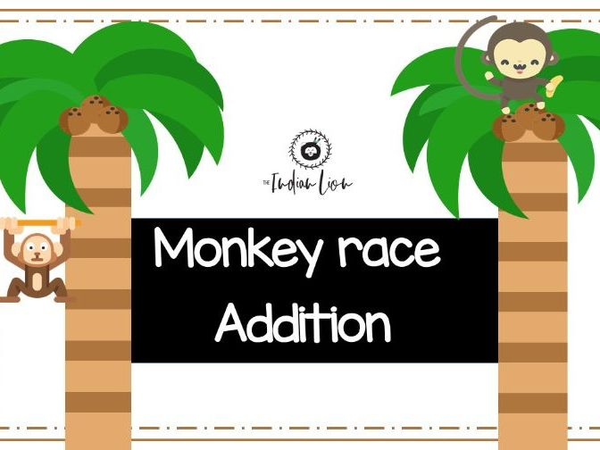 Monkey Addition Race - Math Game