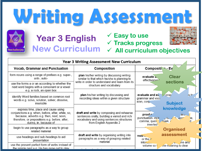 Year 3 Writing Assessment New Curriculum