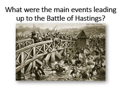 Events leading up to the Battle of Hastings
