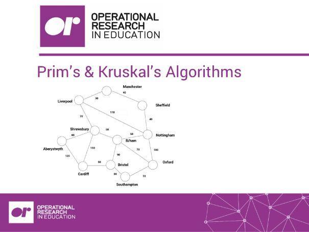 Worksheet 4: Prim's/Kruskal's Algorithms