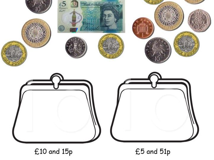 Year 2 - recognise and use symbols for pounds (£) and pence (p); combine amounts to make a value