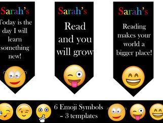 Emoji Motivational Bookmarks - Editable