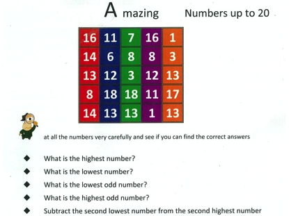 KS 1 Maths - Fun with numbers