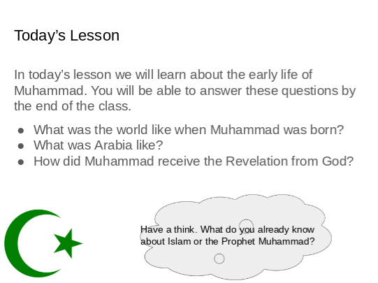 Islam  - Early Years of the Prophet Muhammad