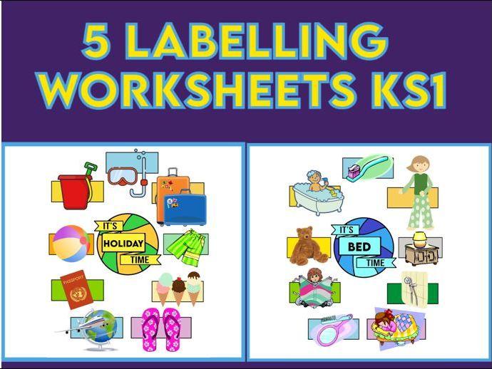 5 Printable Labelling Worksheets KS1
