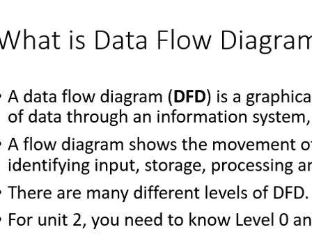 Dfd Data Flow Diagram Cambridge Technicals Level 3 It Spec 2016