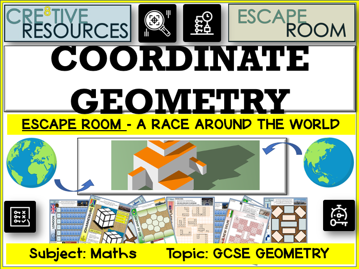 Maths Escape Room - Coordinate Geometry | Teaching Resources
