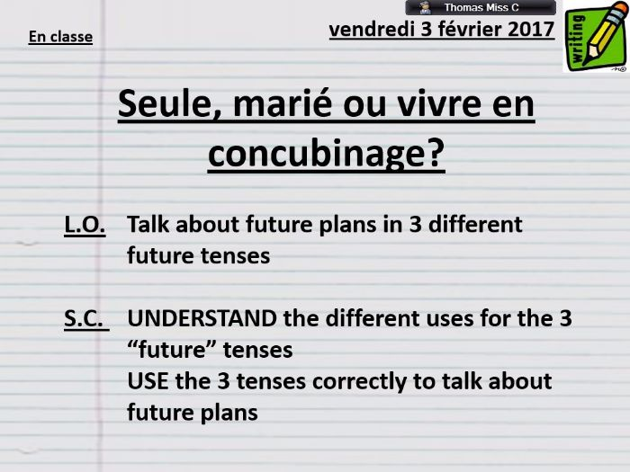 OUTSTANDING Lesson - Future/Near Future/Conditional - Grammar - French - AFL