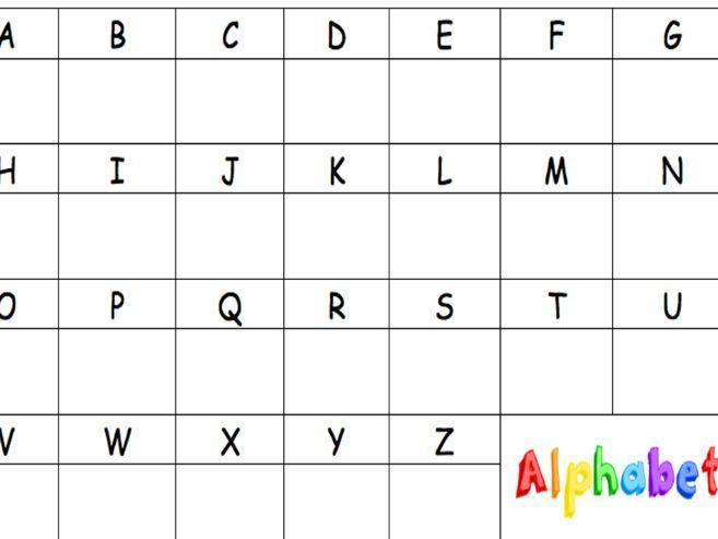 Letter formation template  (Alphabet)