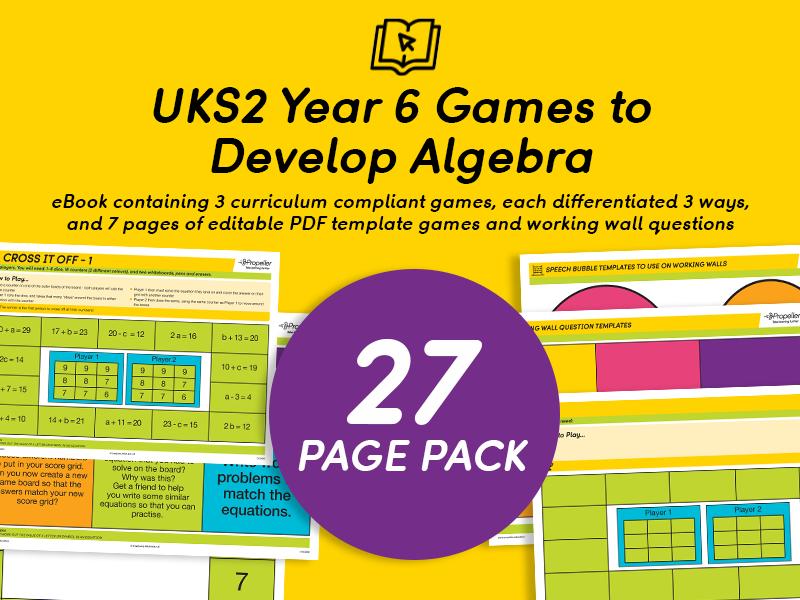 Year 6 Games to Develop Algebra eBook