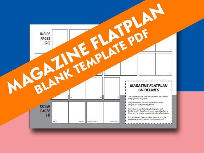 MAGAZINE FLATPLAN BLANK TEMPLATE