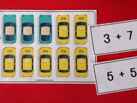 Car Park Number Bonds and 10s Frames