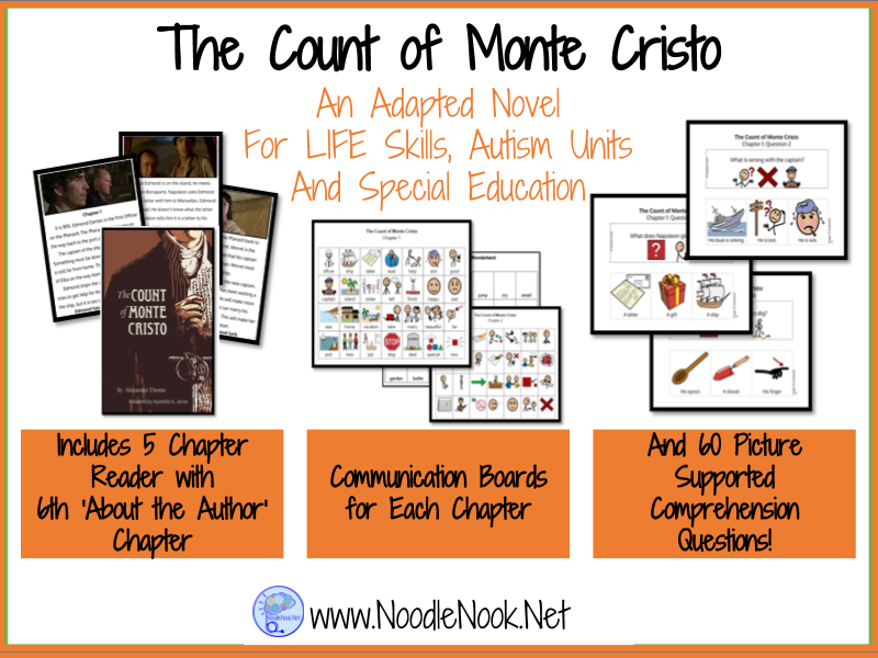 The Count of Monte Cristo- An Adapted Novel for LIFE Skills & Autism