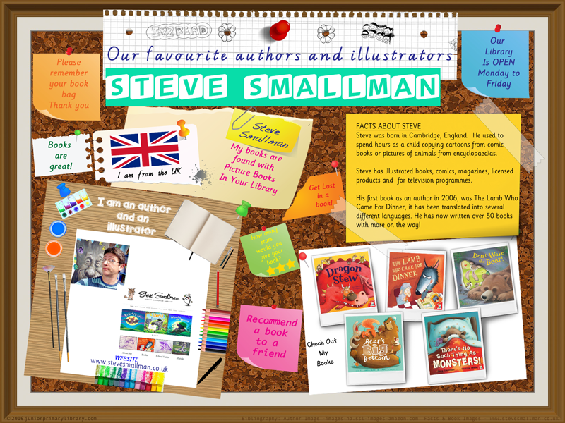 Library Poster - Steve Cole UK Author/Illustrator Of Picture Books