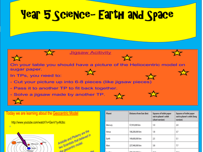 Year 5 Science- Earth and Space Bundle