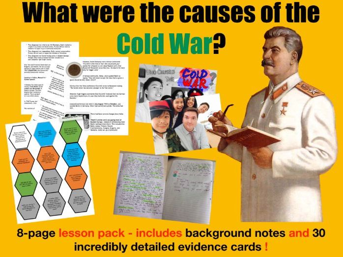 Causes of Cold War - 7 page lesson pack