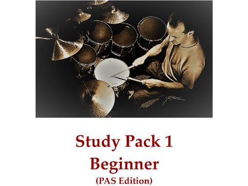 DRUMS Study Pack 1 – Beginner (PAS Edition)
