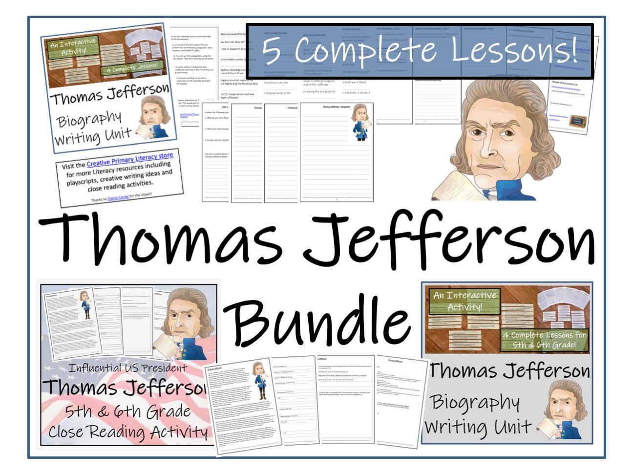 UKS2 History - Bundle of Activities about Thomas Jefferson