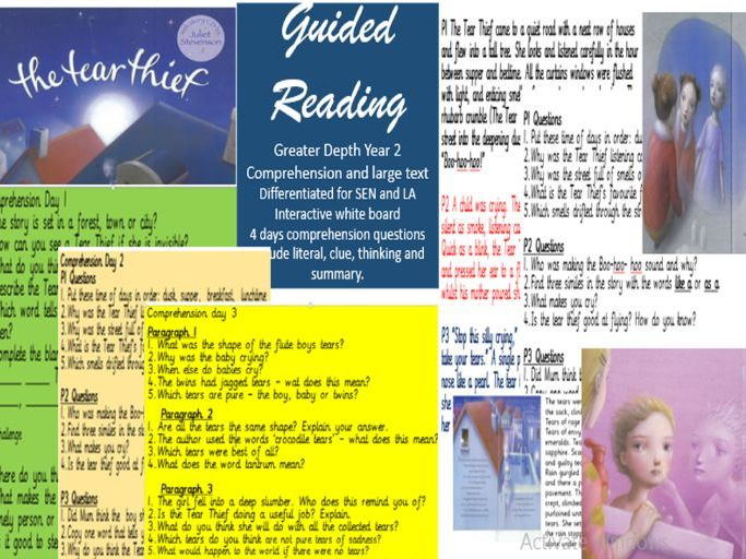 The Tear Thief Guided Reading year 2