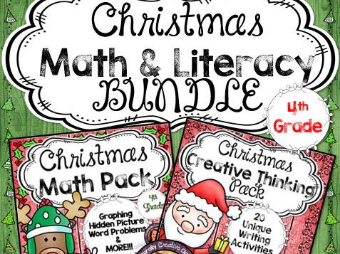 Christmas BUNDLE for 4th Grade