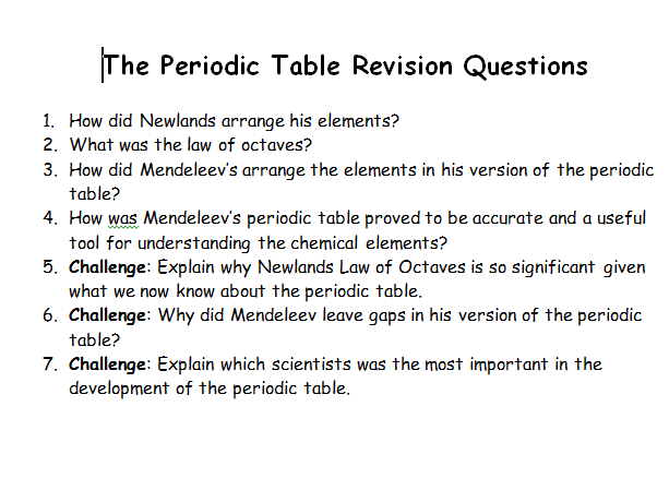 AQA Chemistry Topic 2 Revision Questions
