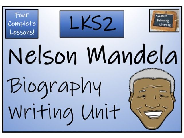 LKS2 History - Nelson Mandela Biography Writing Activity