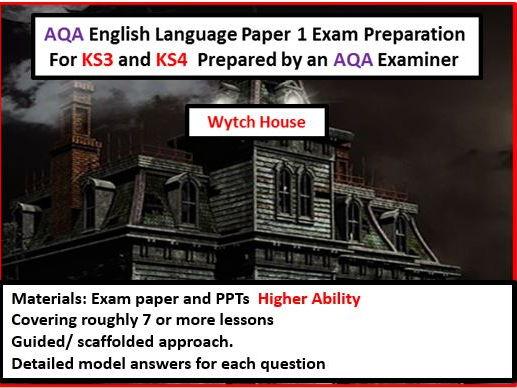 AQA GCSE English Language Paper 1 Exam Preparation For KS3 and KS4--Higher Ability