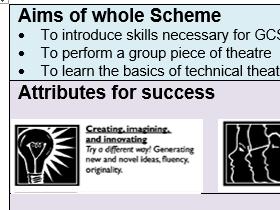 Improving drama skills - 6 lesson SOW