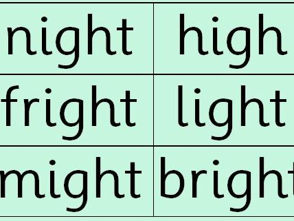 Phonics: Set 2 Green Words (double sided)