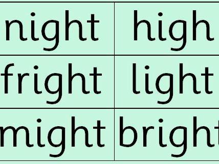 RWI: Read Write Inc Set 2 Green Words (double sided)