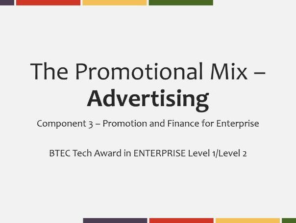 Technical Award in Enterprise L1/2 - Advertising