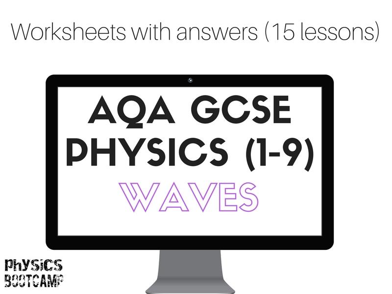 AQA GCSE Physics (1-9) Waves 15 worksheets