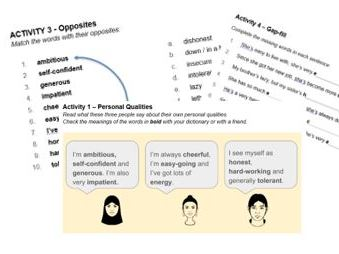 Jobs Work Qualities and Skills ESL ESOL