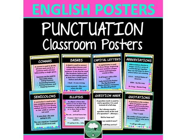 PUNCTUATION Posters English Classroom Posters