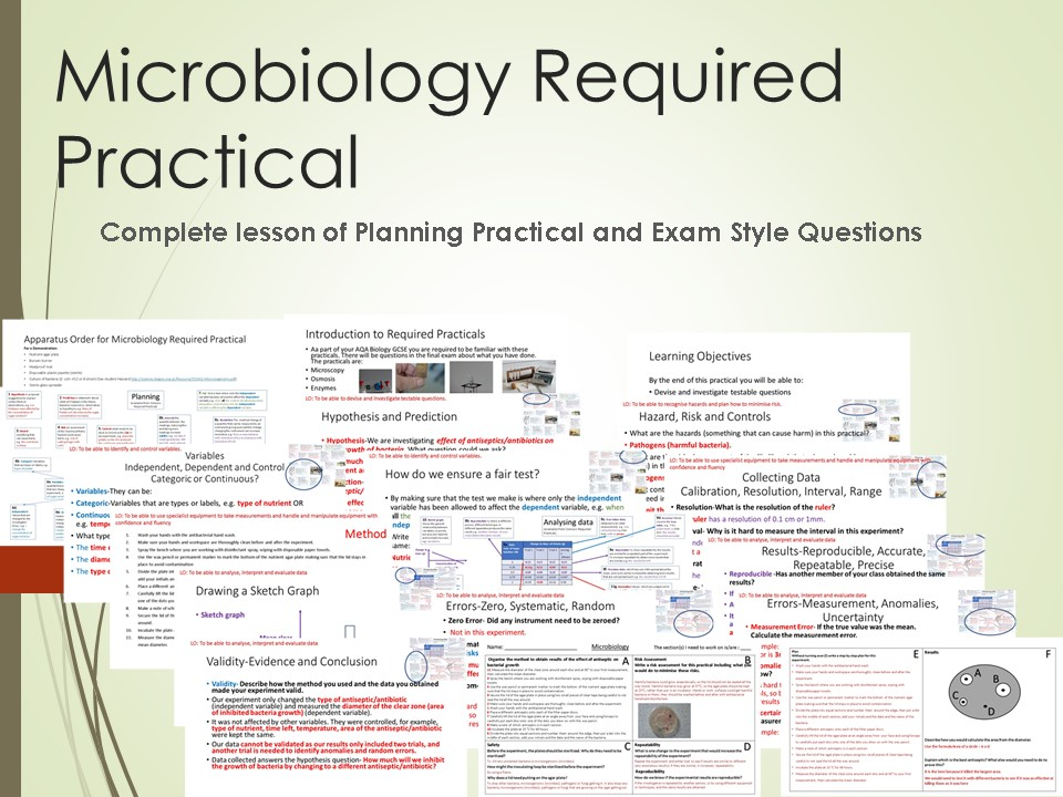 Microbiology Required Practical Lesson