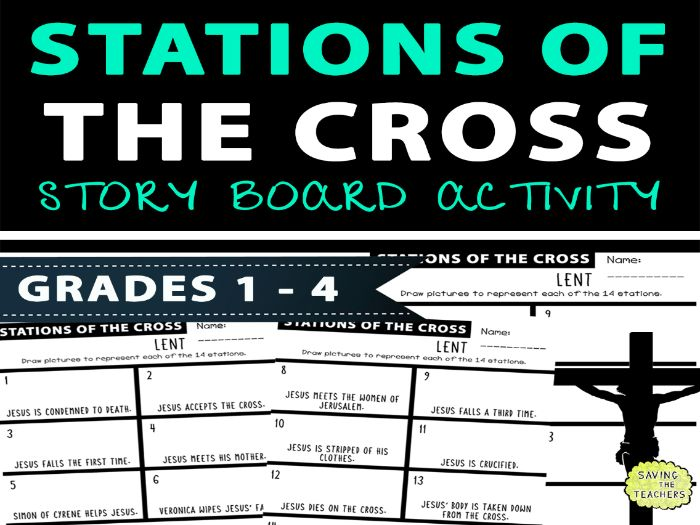 Stations Of The Cross Storyboard Activity