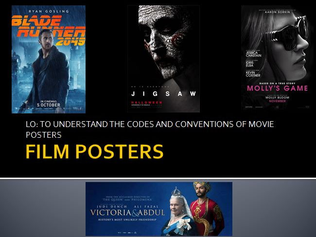 An introduction to the layout and conventions of film posters.