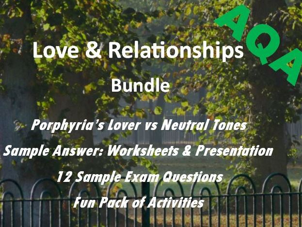 Love and Relationships Revision: Porphyria's Lover and Neutral Tones