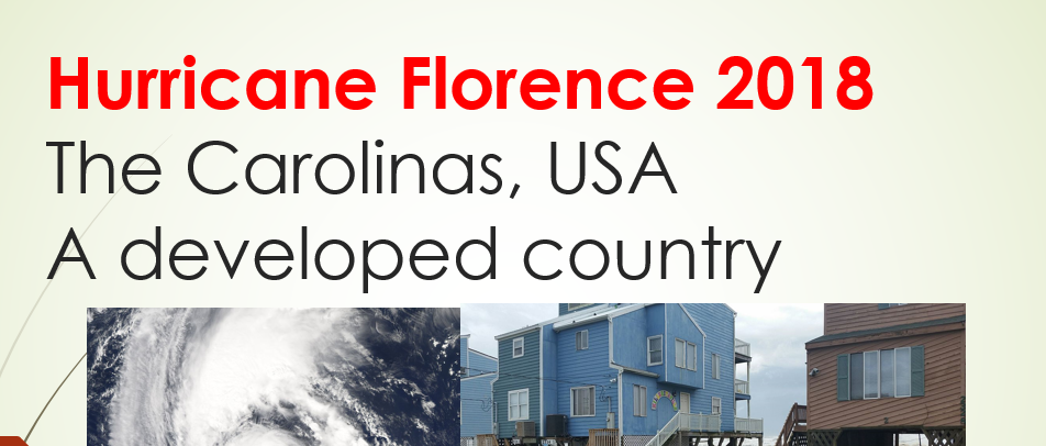 Hurricane Florence 2018- Background, Preparation and responses