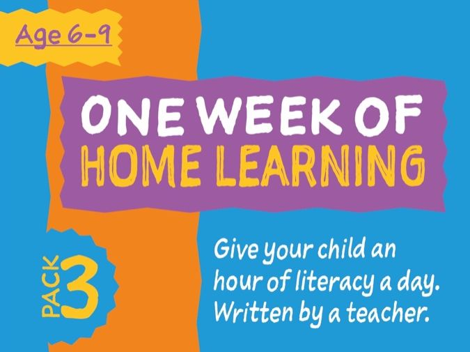 1 Week Literacy Distance Learning: PACK THREE (age 6-9)