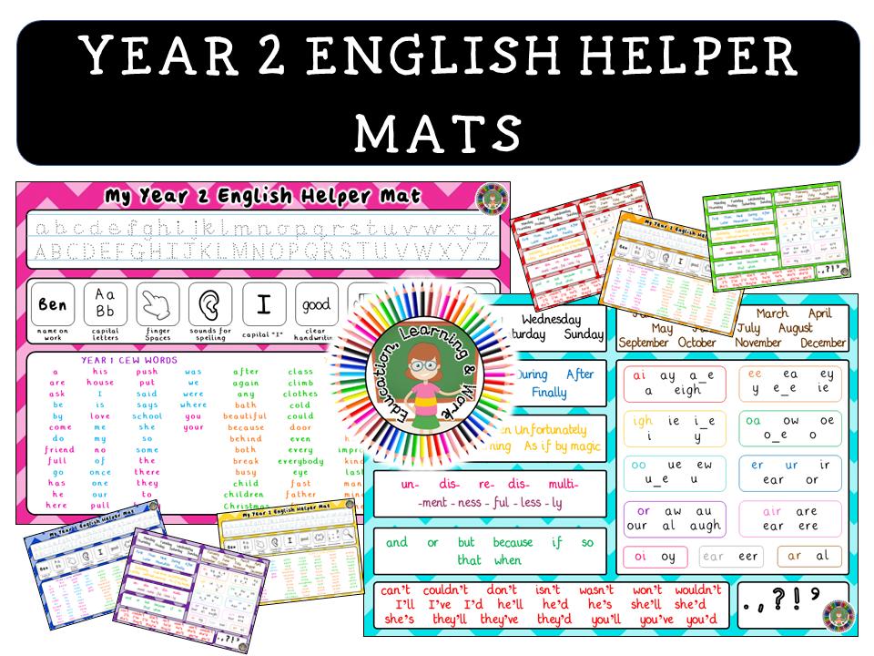 Year 2 English Helper Mat
