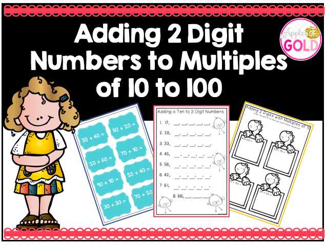 Adding 2 Digits Numbers to Multiples of 10