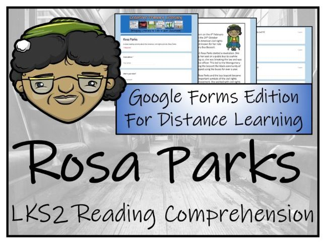 LKS2 Rosa Parks Reading Comprehension & Distance Learning Activity