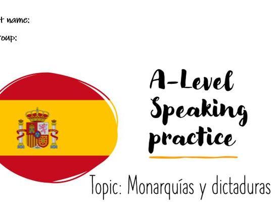 A-Level speaking conversational Las Monarquías y las Dictaduras